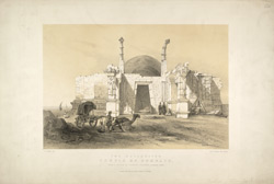 'The celebrated temple of Somnath'. Lithograph by T.C. Dibdin from a sketch by Capt T. Postans